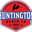 Surfing HUNTINGTON BEACH CALIFORNIA Surf Surfer Surfboard Waves Ocean SURFER'S PARADISE 2 by MyHandmadeSigns