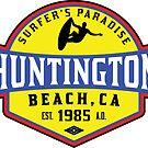 Surfing HUNTINGTON BEACH CALIFORNIA Surf Surfer Surfboard Waves Ocean Beach Vacation 3 by MyHandmadeSigns