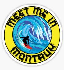 MEET ME IN MONTAUK Surfing MONTAUK NEW YORK Surf Surfboard Waves LONG ISLAND Sticker