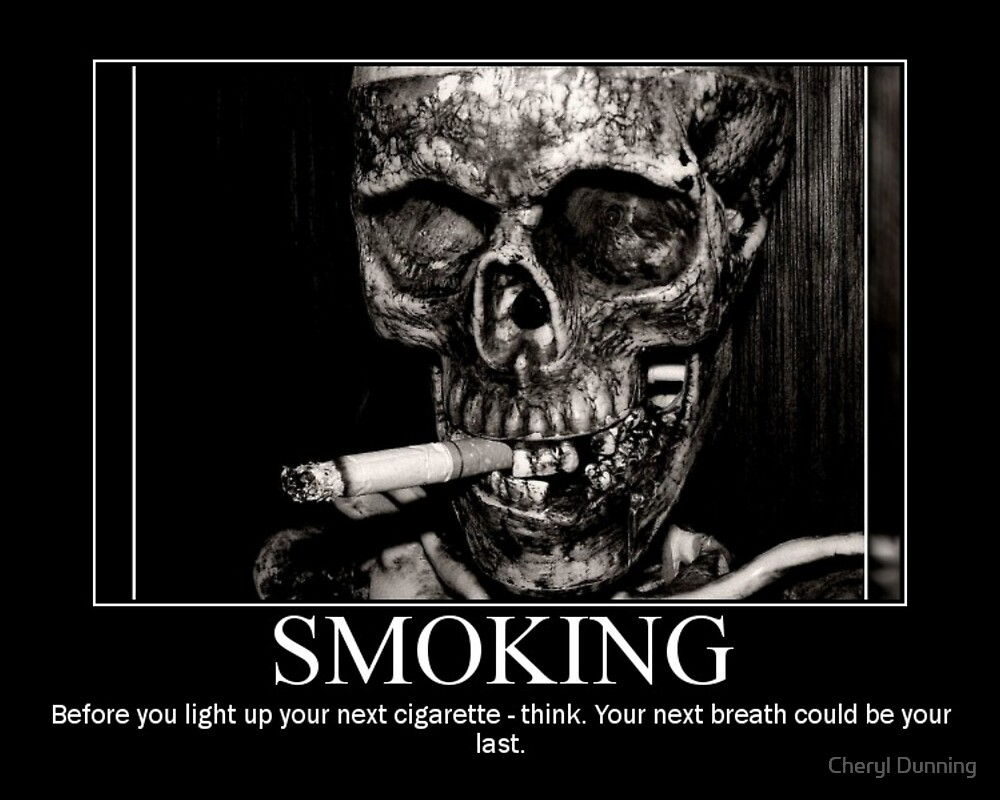 Smoking poster by Cheryl Dunning