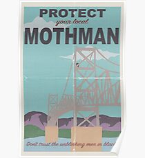 Protect Your Local Mothman Poster