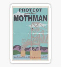 Protect Your Local Mothman Sticker