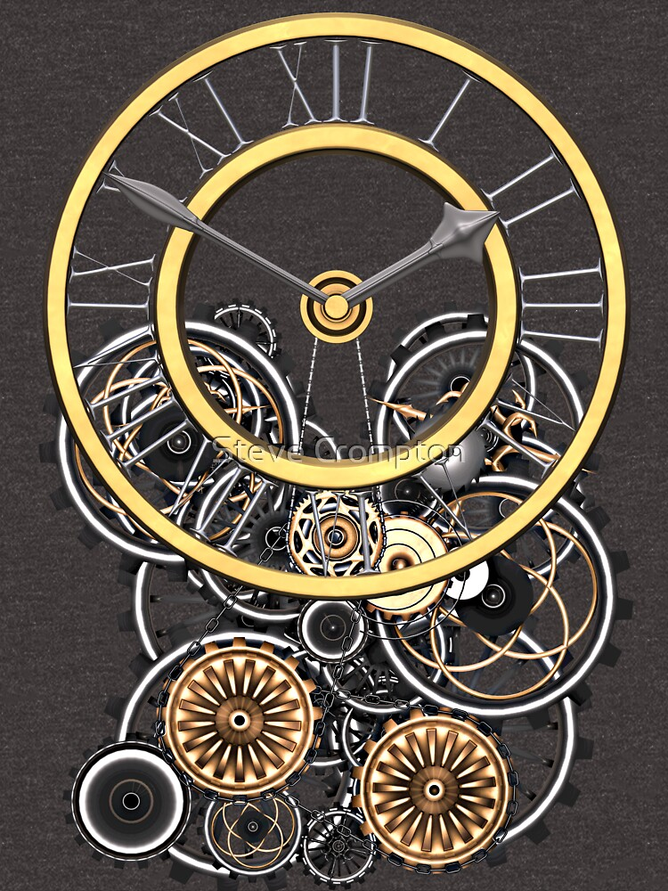 Stylish Vintage Steampunk Timepiece Steampunk T-Shirts by SC001