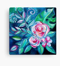 Tropical Camellia Extravaganza - oil on canvas Canvas Print