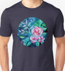 Tropical Camellia Extravaganza - oil on canvas Unisex T-Shirt