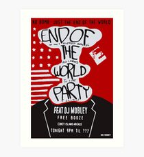 MR ROBOT: END OF THE WORLD PARTY Art Print
