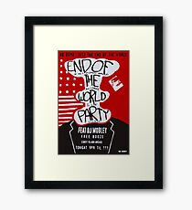 MR ROBOT: END OF THE WORLD PARTY Framed Print