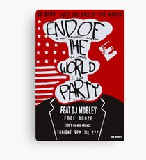 MR ROBOT: END OF THE WORLD PARTY Canvas Print