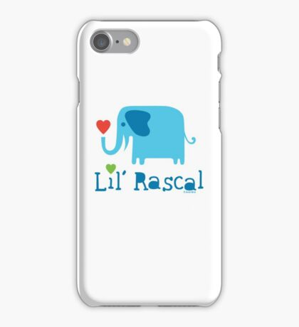 Elephant Lil Rascal blue iPhone Case/Skin
