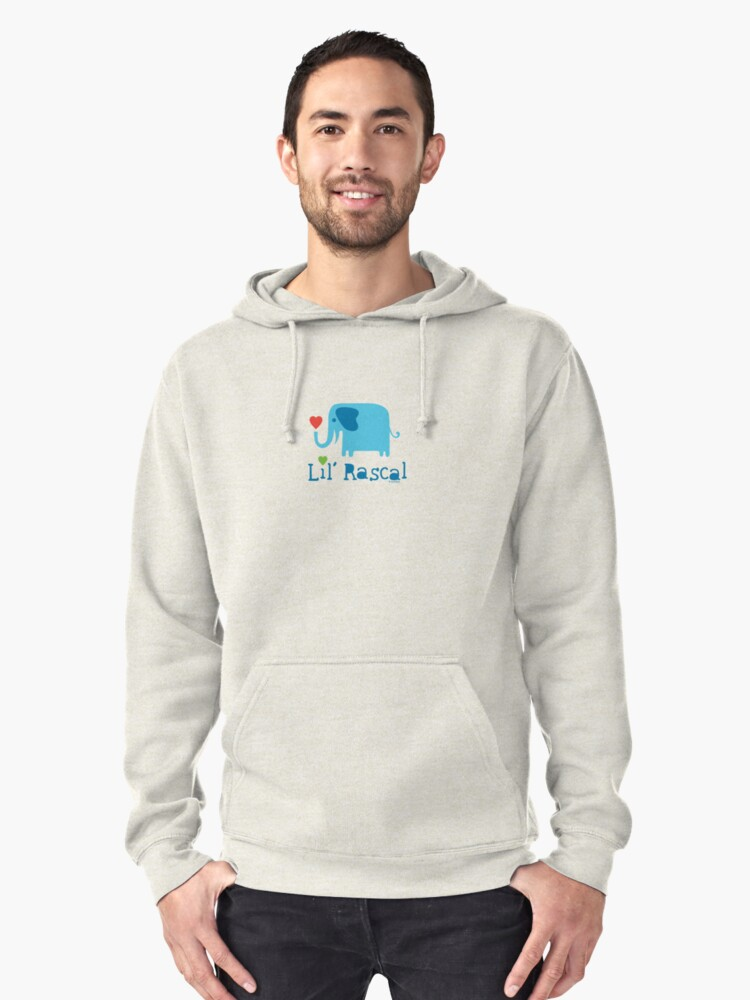 Elephant Lil Rascal blue Pullover Hoodie Front