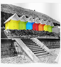 WHITBY BEACH HUTS Poster