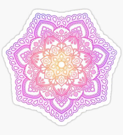 Sonnenuntergang Mandala Sticker