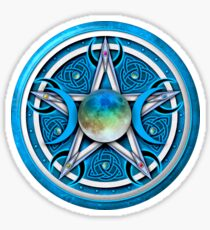 Blue Celtic Pagan Pentacle Sticker