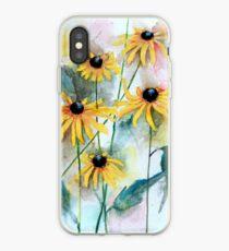 Blackeyed Susan Watercolor iPhone Case