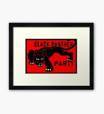 THE BLACK PANTHER PARTY Framed Print