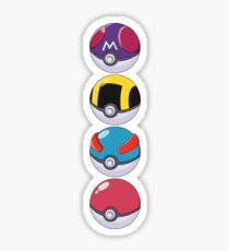 Pokeball Pattern Sticker