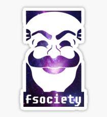Mr robot fsociety sticker Sticker