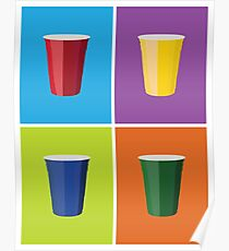 Solo Cup Pop Art Poster