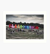 Happy 40th Birthday Glastonbury Art Print