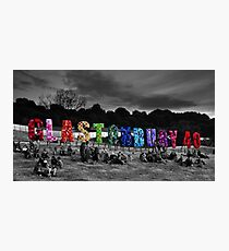 Happy Birthday Glastonbury Photographic Print