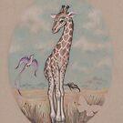 Little Giraffe and Friend by justteejay