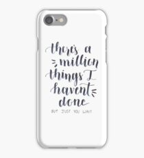 Just you wait iPhone Case/Skin