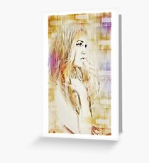 Facet Abstract  Portrait Greeting Card