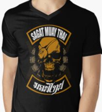 Sagat Muay Thai Fighter  Thailand Martial Art Men's V-Neck T-Shirt