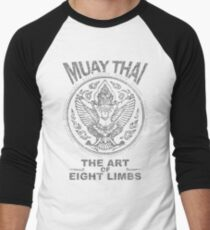 muay thai garuda sacred spirit of thailand the art of eight limbs Men's Baseball ¾ T-Shirt