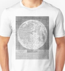 Vintage Map of The Moon (1645) Unisex T-Shirt