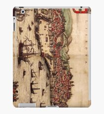 Vintage Pictorial Map of Lisbon Portugal (1572) iPad Case/Skin