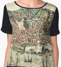 Vintage Map of Lisbon Portugal (1598) Chiffon Top