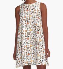 Shell pattern coloured A-Line Dress