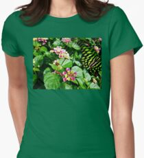 Tailed Jay (Graphium agamemnon) Flying Away T-Shirt