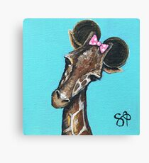 Minnie Giraffe Canvas Print