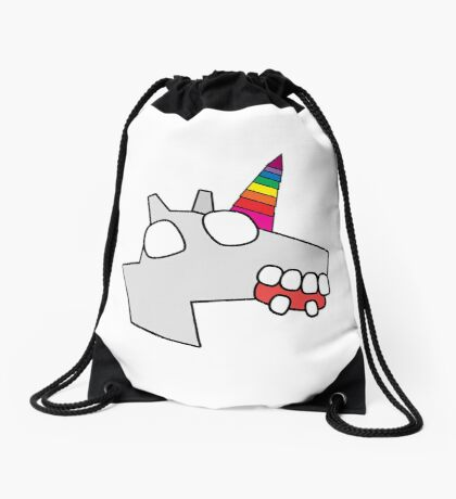 zombie unicorn Drawstring Bag