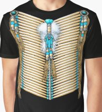 Native American Warrior Chestplate in Turquoise Graphic T-Shirt