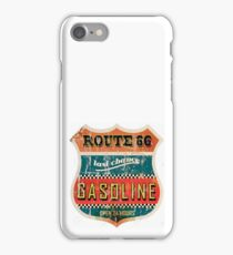 Route 66 Gasoline vintage sign iPhone Case/Skin