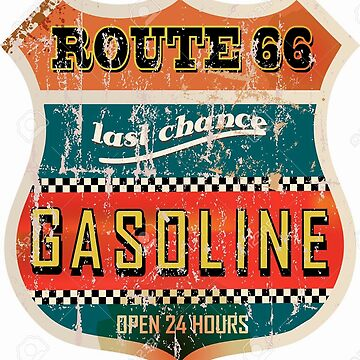 Route 66 Gasoline vintage sign by thatstickerguy