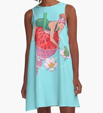 Strawberry A-Line Dress