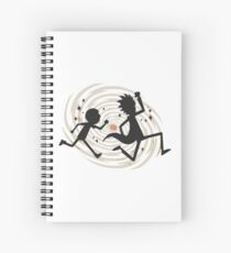 running time Spiral Notebook