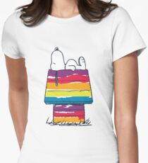 rainbow snoop Womens Fitted T-Shirt