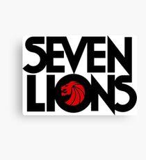 7 lions Canvas Print