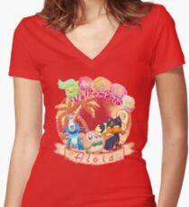 Aloha Alola Women's Fitted V-Neck T-Shirt