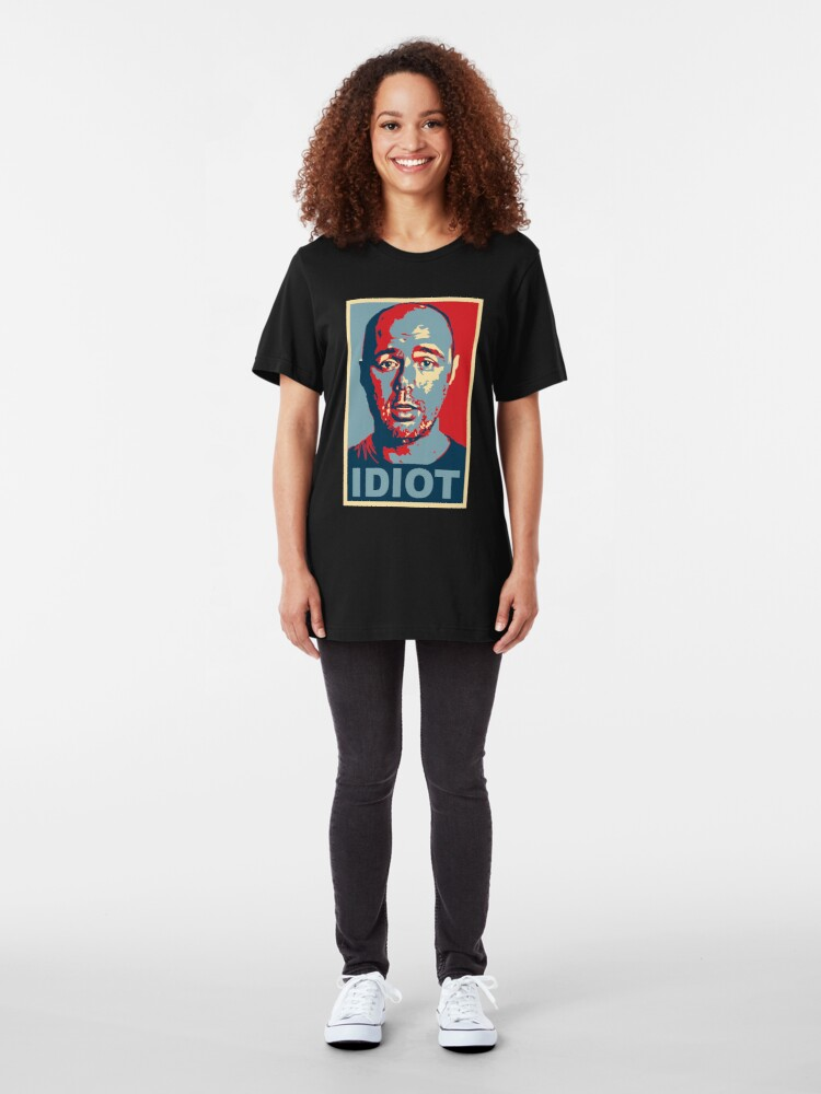 Alternate view of Idiot  Slim Fit T-Shirt