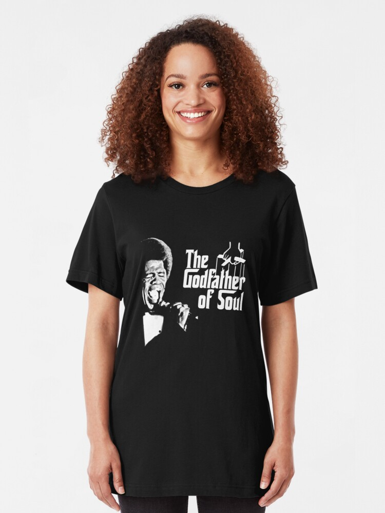 Alternate view of The Godfather of Soul - James Brown Slim Fit T-Shirt