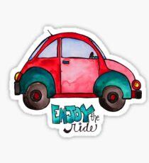 Genießen Sie die Fahrt - Watercolor - VWBUG Sticker