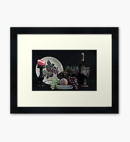 The Ceramic Plate of Fruit Framed Print