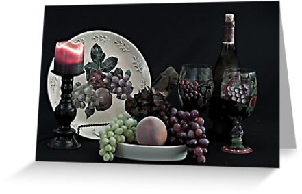 The Ceramic Plate of Fruit by Sherry Hallemeier