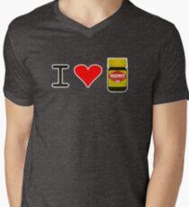 I Love Vegemite Men's V-Neck T-Shirt